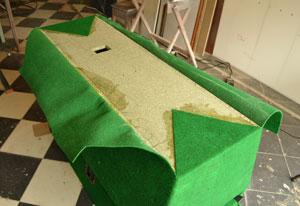 tapizado de la cabina