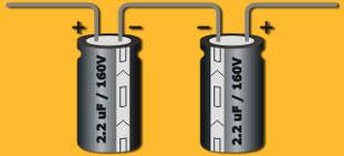 antiserie de condensadores
