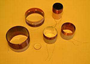 diferentes bobinas de parlante